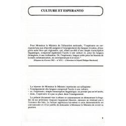 Culture et espéranto
