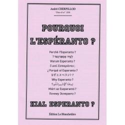 Pourquoi l'espéranto ?